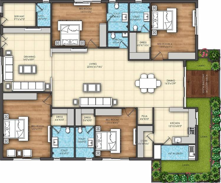 Omsree Signet (4BHK+5T (3,835 sq ft) + Servant Room 3835 sq ft)