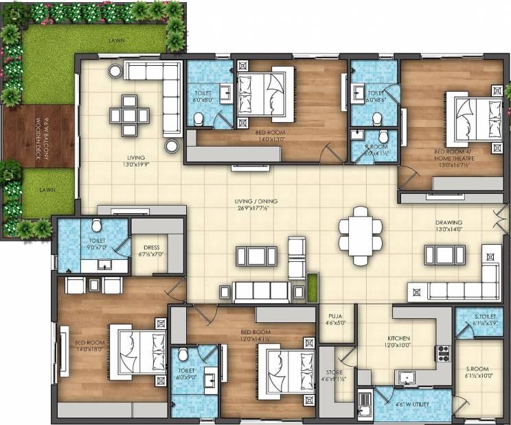 Omsree Signet (4BHK+5T (3,795 sq ft) + Servant Room 3795 sq ft)