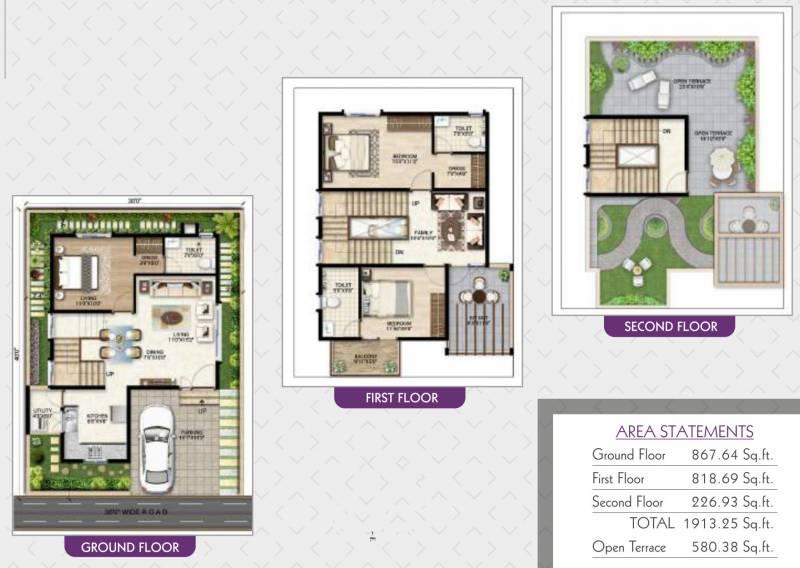 Prithvi Orchids Villa Phase 1 (3BHK+3T (1,913.25 sq ft) 1913.25 sq ft)