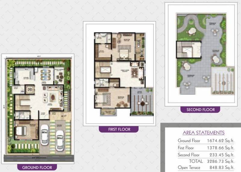 Prithvi Orchids Villa Phase 1 (3BHK+3T (3,325.4 sq ft) + Study Room 3325.4 sq ft)