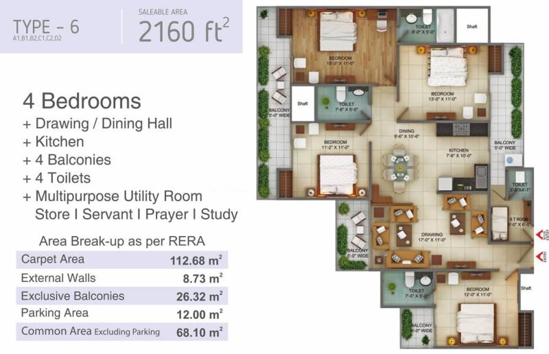 Fusion Homes (4BHK+4T (2,160 sq ft) 2160 sq ft)