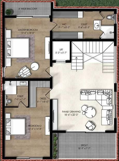 Northstar Allura (4BHK+7T (4,715 sq ft) + Servant Room 4715 sq ft)