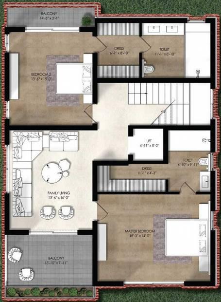 Northstar Allura (4BHK+6T (4,729 sq ft) + Servant Room 4729 sq ft)
